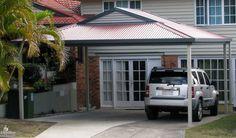 Hip roof carport carport carport kits car ports