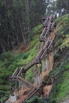 The crazy staircase on Yerba Buena Island!