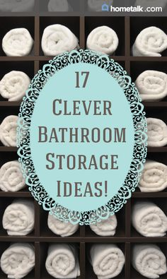 DIY::17 Clever Bathroom Storage Ideas!