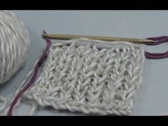 Knooking - scarf in English rib (IN GERMAN - If you are familiar with knooking, you can watch this video to learn this stitch... The video is very good... Deb)