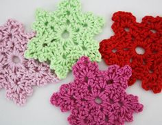Crochet snowflakes but will munipulate into flowers.