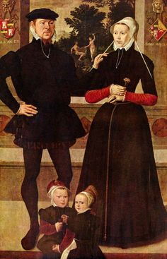 1559 Master of the Antwerp Family Portrait - Portrait of the Gindertaelen family