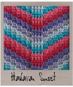 hawaiian crochet patterns | Bargello Crochet, 10 pattern ebook includes Hawaiian Sunset pattern ...
