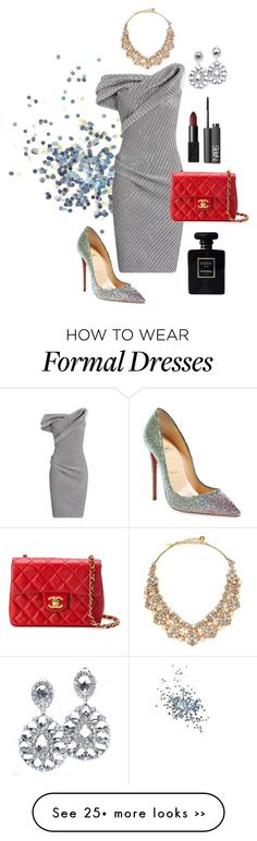 """Untitled #88"" by yazzy314 on Polyvore featuring Topshop, Maticevski, Chanel, Christian Louboutin, NARS Cosmetics and Kate Spade"