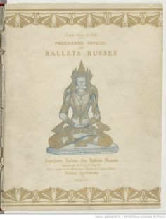 Programme officiel des Ballets russes : Théâtre du Châtelet, mai-juin 1912,  [textes de Jean Cocteau et Frédéric de Madrazo]