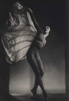 "Helene Kirsova as the Butterfly in ""L'épreuve d'amour"". Photograph by Raoul Barba."