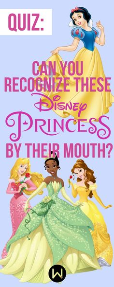 Disney Quiz: Can you match the mouth to the Disney princess? Say cheese! Buzzfeed Quizzes, Playbuzz quiz, Disney Trivia, Disney Knowledge Quiz, Disney Knowledge Test, Disney Prince Quiz, Belle, Snow White, Rapunzel, Ariel
