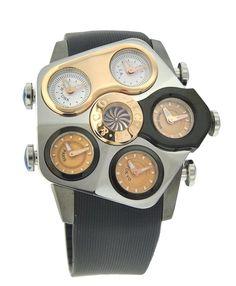 Jacob & Co. Grand GR3-15 Black PVD Steel Case Rose Gold Center Bezel 47 mm Watch #JacobCo #Luxury