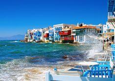 Forte houle à Mykonos ! #croisière #croisierenet.com #voyage #Mykonos #Grêce #croisièreméditerannée