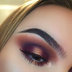 """638 Likes, 9 Comments - Maryy (@justmary_makeup) on Instagram: """"Purple and gold halo smokey eye✨ These colours together are everything!! • • • Products used:…"""""""