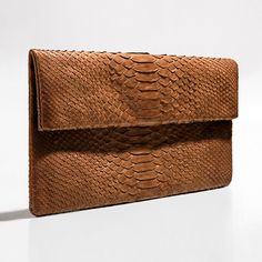 Caramel brown python clutch by Verinosa More colors www.verinosa.ee