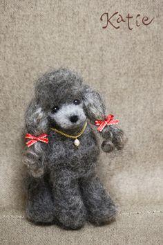 needle felted dog, poodle opawz.com  supply pet hair dye,pet hair chalk,pet perfume,pet shampoo,spa....