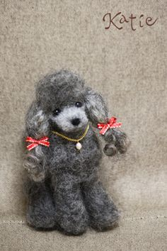 needle felted dog, poodle opawz.com  supply pet hair dye,pet hair chalk,pet perfume,pet shampoo,spa....