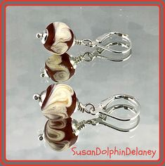 One pair of perfect earrings. A gift for yourself, for a teacher, for your bestie. These earrings will carry you from morning to night. Anniversary Jewelry, Christmas Jewelry, Minimalist Earrings, Selling Jewelry, Bead Caps, Lampwork Beads, Make And Sell, Women's Earrings, Gifts For Women