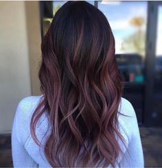 Plum hair color ideas for 2019 - Neue Haare frisuren ideen 2019 - cheveux Maroon Hair Colors, Hair Color Dark, Cool Hair Color, Plum Colour, Color Black, Maroon Colour, Hair Colour, Deep Purple Hair, Black Hair With Color
