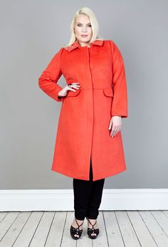 Anna Scholz - coral Wool Tailored Coat  bring some colour into the dark season