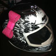 Pink Helmet Bow For Racing Motorcycle Mx Atv Helmets Mohawks