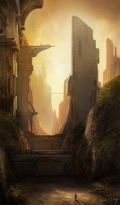 Sci Fi environment by Showmeyourmoves on deviantART