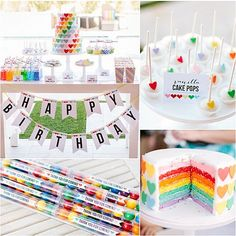 A rainbow and hearts celebration!   21 Unique Birthday Party Themes We Love