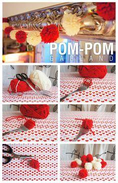 #pompom #Christmas #DIY #garland #holidays