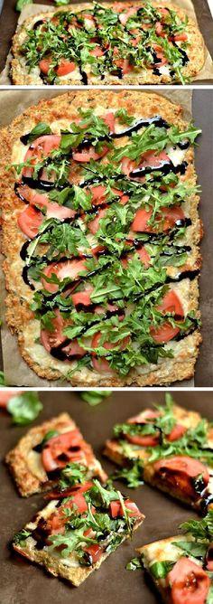 Caprese Pizza with Quinoa Crust