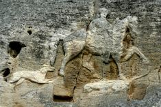 The Madara Rider or Madara Horseman (Bulgarian: Мадарски конник, Madarski konnik) is an early medieval large rock relief carved on the Madara Plateau east of Shumen in northeastern Bulgaria, near the village of Madara. The monument is dated in the very late 7th,[1] or more often very early 8th century, during the reign of Bulgar Khan Tervel.[1][2] In 1979 became enlisted on the UNESCO World Heritage List.