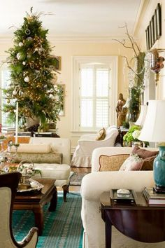 Mary Carol Garrity, the Kansas entrepreneur behind Nell Hill's home décor shop, offers a look at her own home's holiday design—and tips that may work in your home, too.