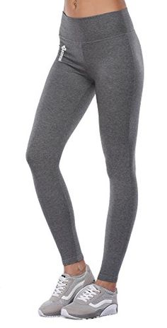 BAOMOSI Womens Workout Active Ankle Legging Reflex Power Flex Yoga Pants  Grey L    Find out more about the great product at the image link. Ideal  Fashion 0308a0376d19