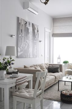 Relaxing Colour Scheme   Small Apartment Near Moscow  Anna Erman Separate Living  Room With Rug (solid Color)