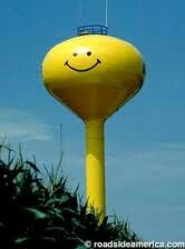 Suprise a smiley face water tower
