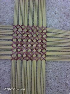 Способ плетения крышки. - Плетение из газетных трубочек - Поделки из бумаги - Каталог статей - Рукодел.TV