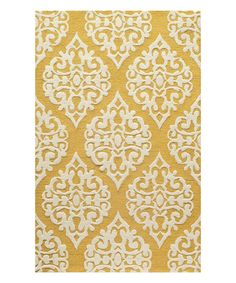 Look at this Gold Empress Wool Rug on #zulily today!
