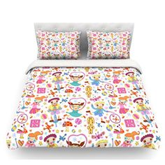 East Urban Home Vintage Playground IIII by Jane Smith Featherweight Duvet Cover Size: King/California King, Fabric: Woven Polyester