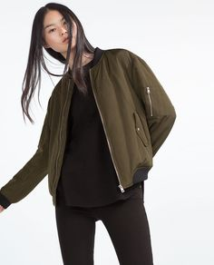 NYLON BOMBER JACKET-View all-Outerwear-Woman-COLLECTION SS16 | ZARA United States