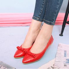 Women Flat Shoes Comfortable Pointed Toe Slip On Casual Outdoor Flat Loafers