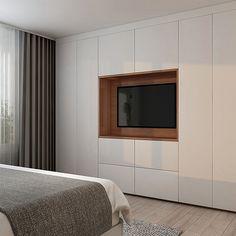 Bedroom Built In Wardrobe, Bedroom Built Ins, Bedroom Closet Design, Bedroom Furniture Design, Home Room Design, Master Bedroom Design, Home Interior Design, Living Room Tv Unit Designs, Teen Bedroom Designs