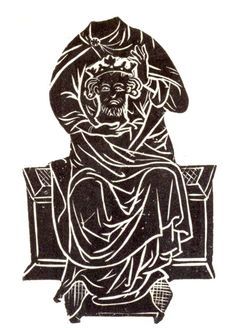 St. Aethelbert of East Anglia, monumental brass in Hereford Cathedral - https://en.m.wikipedia.org/wiki/Æthelberht_II_of_East_Anglia