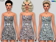 Sims 3 Addictions: Secret Sequin Dress by Margies Sims • Sims 4 Downloads