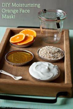 Orange face mask for dry skin.