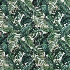 Børstet bomuld m tropiske blade