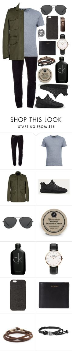 """""""Untitled #432"""" by clary94 ❤ liked on Polyvore featuring STONE ISLAND, A.P.C., Daniele Alessandrini, adidas, Michael Kors, Taylor of Old Bond Street, Calvin Klein, Daniel Wellington, Rick Owens and Yves Saint Laurent"""