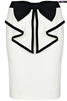 ROMWE | Bow Embellishment Flouncing Skirt, The Latest Street Fashion #Romwe