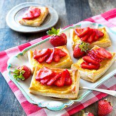 Helpot mansikkaviinerit | Reseptit | Kinuskikissa