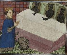 Kneeling before the devils ~ Strasbourg, 14th century