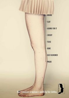 Striking Ads Show How You Shouldn't Measure A Woman's Worth By Her Clothes - DesignTAXI.com