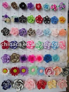 Different ideas to make a polymer clay flowers