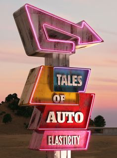 Tales of auto elasticity on Behance by Chris LaBrooy Photo Wall Collage, Picture Wall, Retro Signage, Pompe A Essence, Vintage Neon Signs, Usa Tumblr, Aesthetic Vintage, Neon Lighting, Sign Design