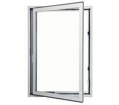 Pella impervia fiberglass casement window with top grill for Andersen windows u factor