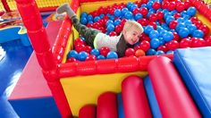 Indoor Playground Family Fun Johny Johny Yes Papa Nursery Rhymes Song for kids. Indoor playground for kids. Baby is having fun with family at indoor playground...
