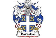 Barradas Spanish Coat of Arms Print Family Crest Barradas